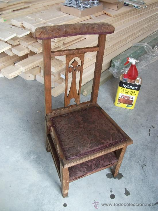 Antiguo reclinatorio silla para restaurar comprar sillas - Sillones antiguos para restaurar ...