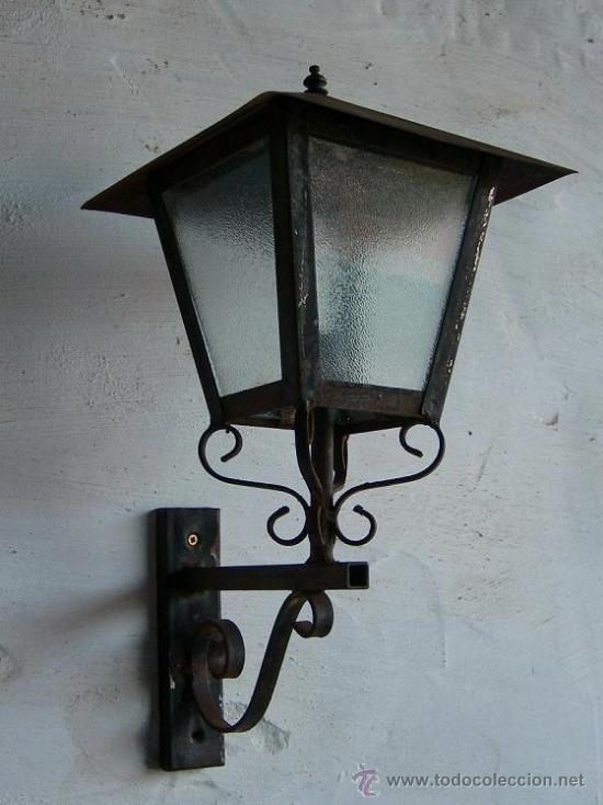 Farol de hierro forjado antiguo apli365 comprar for Faroles en hierro forjado para jardin