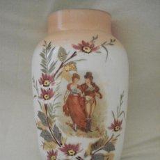 Antigüedades: JARRON DE OPALINA S. XIX - CON PINTURA ROMANTICA. Lote 27291017