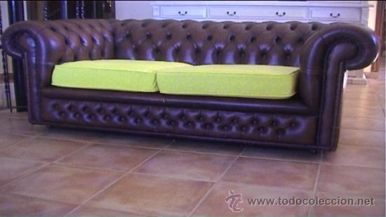 Sofa piel marron chesterfield 2 plazas chester comprar sof s antiguos en todocoleccion 21780441 - Sofa piel marron ...