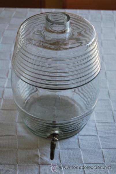 frasca de cristal con grifo perfumera recipiente de vidrio bote gran tamao