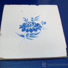 Antigüedades: AZULEJO B DE LA FLOR. ALCORA.. Lote 21932442