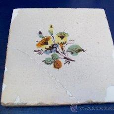 Antigüedades: AZULEJO E DE LA FLOR. ALCORA.. Lote 21932611