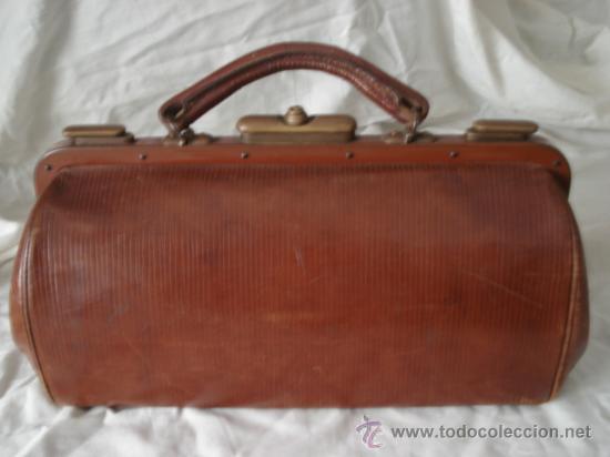 MALETIN DE MEDICO 1920.- (Antigüedades - Moda y Complementos - Hombre)