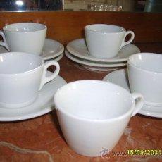Antigüedades: TAZAS Y PLATOS (JUEGO CAFÉ). Lote 27083916