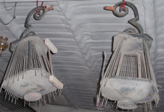 Antigüedades: faroles de forja antiguos , medida 100 x 55 x55 cm aproximadamente. - Foto 5 - 21233387