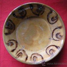 Antigüedades: CERÁMICA POPULAR. CUENCO VIDRIADO. Lote 22056839