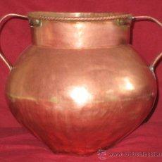 Antigüedades: ANTIGUO CALDERO DE COBRE. Lote 27605587