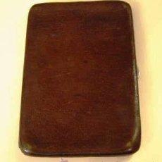 Antigüedades: ANTIGUA PITILLERA PARA CABALLERO DE CUERO. Lote 34501818
