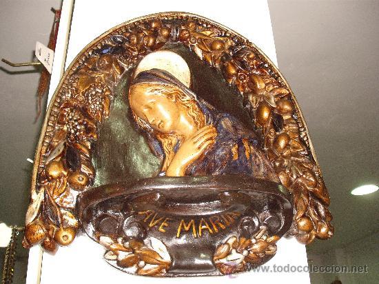 ANTIGUEDAD: VIRGEN AVE MARIA PENSATIVA (Antigüedades - Porcelanas y Cerámicas - Otras)