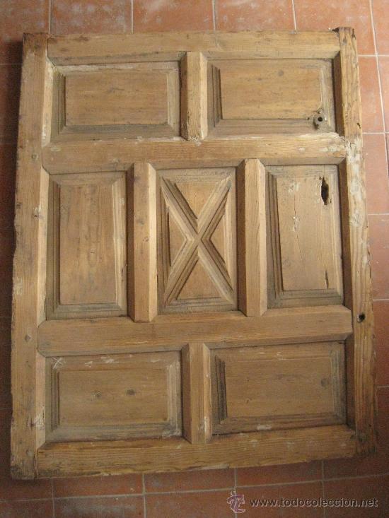 Puerta de madera antigua 101x79 preciosa vendido en for Fotos de puertas de madera antiguas