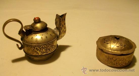 Pareja de peque os antiguos objetos decorativos comprar for Compra de objetos antiguos