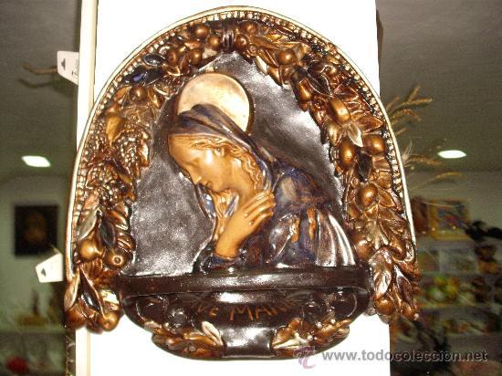 Antigüedades: antiguedad: virgen ave maria pensativa - Foto 4 - 22203734