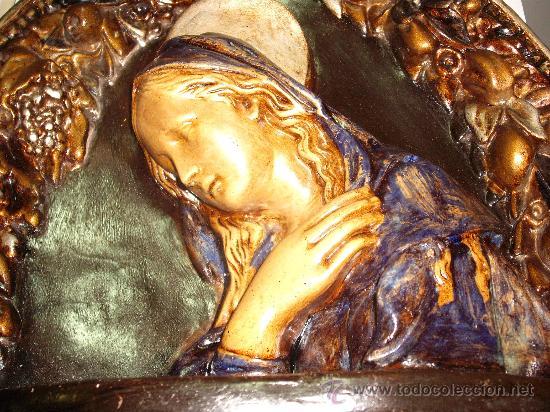 Antigüedades: antiguedad: virgen ave maria pensativa - Foto 2 - 22203734