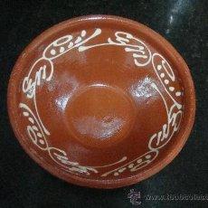 Antigüedades: CUENCO DE BARRO DE 18CM DE DIAMETRO. BOL DE CERÁMICA HORNEADA. PLATO.. Lote 26341387