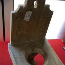 Antigüedades: ETNOGRAFIA. ANTIGUO JARRERO POPULAR EN MADERA DE PINO. MURCIA. Lote 22235810