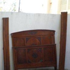Antigüedades: CAMA DE MATRIMONIO ESTILO ARTENOVA. Lote 22254094