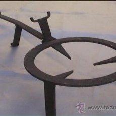 Antigüedades: ESTREVES FORJA HIERRO FORJADO SXIX TRES PIES. Lote 22256788