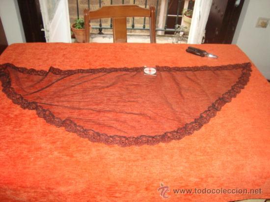 Antigüedades: preciosa mantilla o velo de luto años 70 , con su etiqueta sin usar, 123 x 42 cm, - Foto 3 - 22308779
