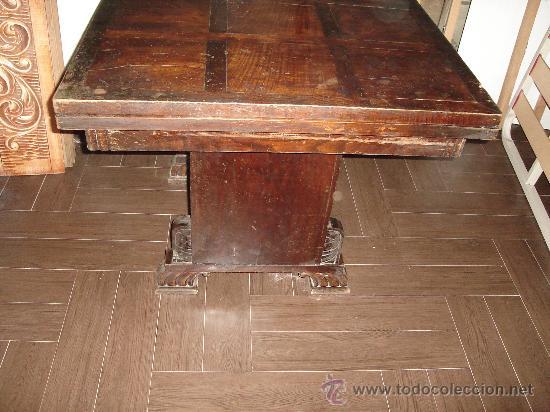 Antigüedades: mesa de castaño - Foto 2 - 26380770