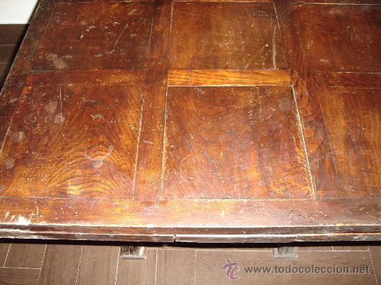 Antigüedades: mesa de castaño - Foto 3 - 26380770
