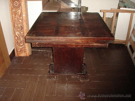 MESA DE CASTAÑO (Antigüedades - Muebles Antiguos - Mesas Antiguas)