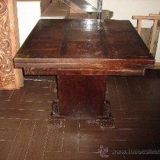 Antigüedades: MESA DE CASTAÑO. Lote 26380770