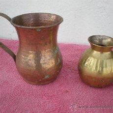 Antigüedades: JARRA Y JARRON PEQUEÑO. Lote 22364945