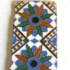 Antigüedades: AZULEJO RACHOLA DE ARISTA ,MENSAQUE SEVILLA S,XIX (SIGUIENDO MODELO TRIANA DEL S.XVI. Lote 27280328