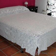 Antigüedades: COLCHA ANTIGUA DE GANCHILLO. Lote 26537963