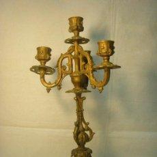 Antigüedades: CANDELABRO DE CALAMINA DE FINALES DEL XIX. Lote 50521076