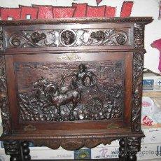 Antigüedades: BARGUEÑO PAPELERA TALLADO. MADERA DE HAYA . DE CONSERVACIÓN.. Lote 22533387