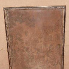 Antigüedades: TAPIZ MECANICO DE S.XIX. BIEN EMMARCADO CON MARCO ACTUAL Y VIDRIO.. Lote 47872241