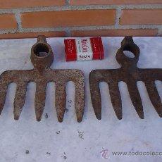 Antigüedades: RASTRILLO ANTIGUO - LOTE DOS UNIDADES - APEROS DE LABRANZA - AGRICULTURA -. Lote 26682101