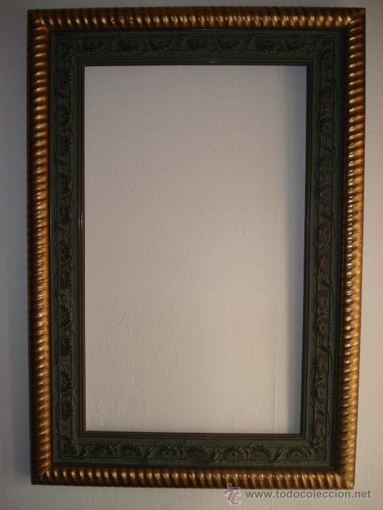 marco verde y oro - moldura rizada- madera tall - Comprar Marcos ...
