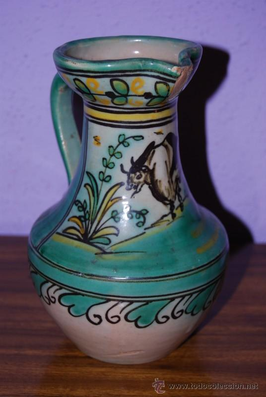 JARRA DE CERÁMICA DE PUENTE DEL ARZOBISPO - NUMERADA Y SELLADA EN LA BASE (Antigüedades - Porcelanas y Cerámicas - Puente del Arzobispo )