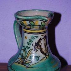 Antigüedades: JARRA DE CERÁMICA DE PUENTE DEL ARZOBISPO - NUMERADA Y SELLADA EN LA BASE. Lote 26704688