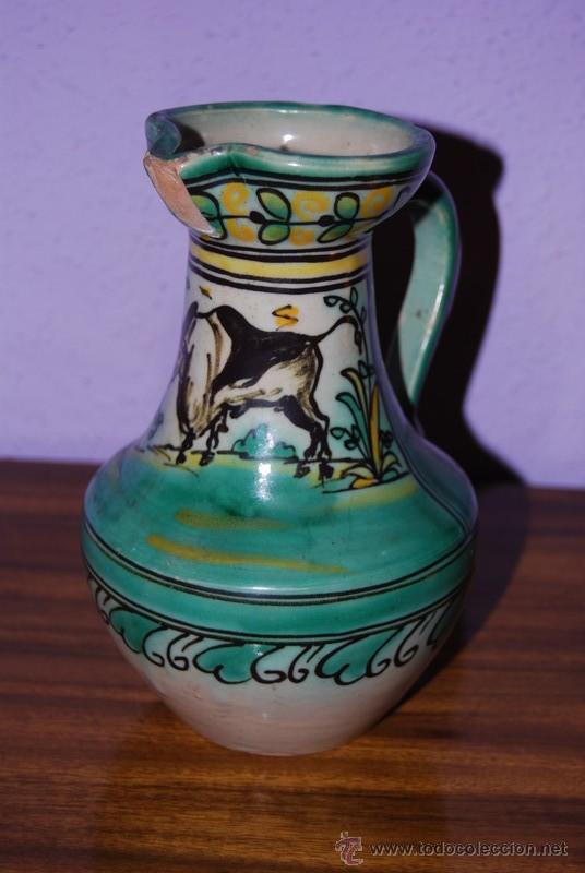 Antigüedades: JARRA DE CERÁMICA DE PUENTE DEL ARZOBISPO - NUMERADA Y SELLADA EN LA BASE - Foto 2 - 26704688