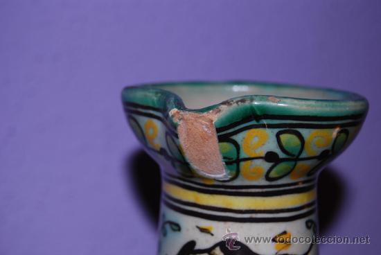 Antigüedades: JARRA DE CERÁMICA DE PUENTE DEL ARZOBISPO - NUMERADA Y SELLADA EN LA BASE - Foto 3 - 26704688