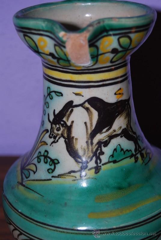 Antigüedades: JARRA DE CERÁMICA DE PUENTE DEL ARZOBISPO - NUMERADA Y SELLADA EN LA BASE - Foto 5 - 26704688