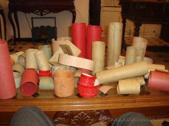 Antigüedades: lote de 40 cartones para hacer encajes de bolillo, , regalo antiguo cuaderno de labores - Foto 6 - 22646724
