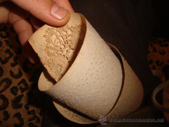 Antigüedades: lote de 40 cartones para hacer encajes de bolillo, , regalo antiguo cuaderno de labores - Foto 10 - 22646724
