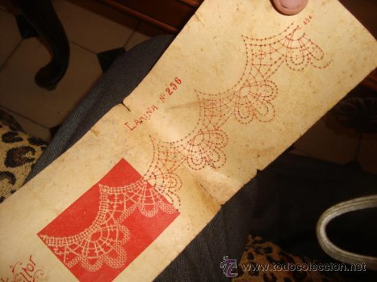 Antigüedades: lote de 40 cartones para hacer encajes de bolillo, , regalo antiguo cuaderno de labores - Foto 8 - 22646724