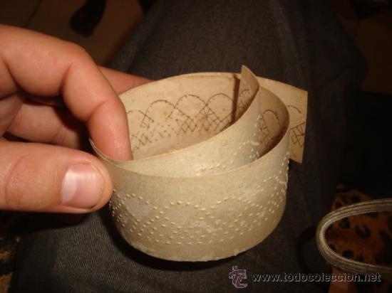 Antigüedades: lote de 40 cartones para hacer encajes de bolillo, , regalo antiguo cuaderno de labores - Foto 12 - 22646724