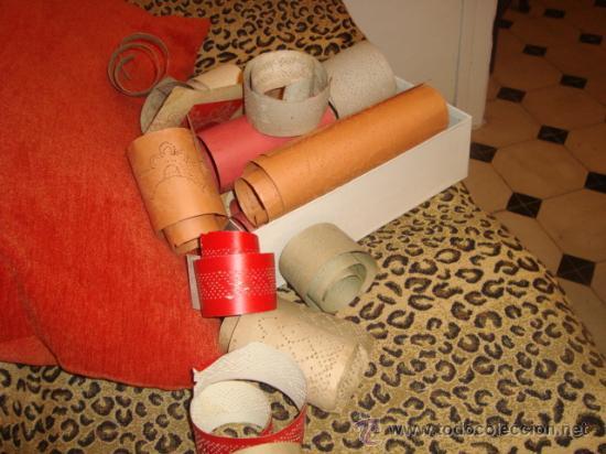 Antigüedades: lote de 40 cartones para hacer encajes de bolillo, , regalo antiguo cuaderno de labores - Foto 2 - 22646724