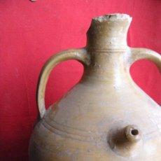 Antigüedades: CERÁMICA POPULAR. ANTIGUO BOTIJO DE BARRO. Lote 22671323