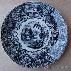 Antigüedades: PEQUEÑO PLATO ANTIGUO DE PICKMAN LA CARTUJA DE SEVILLA. Lote 27286356