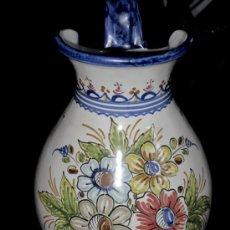 Antigüedades: PRECIOSA JARRA PARA LAVABO. PINTADA A MANO. Lote 26737536