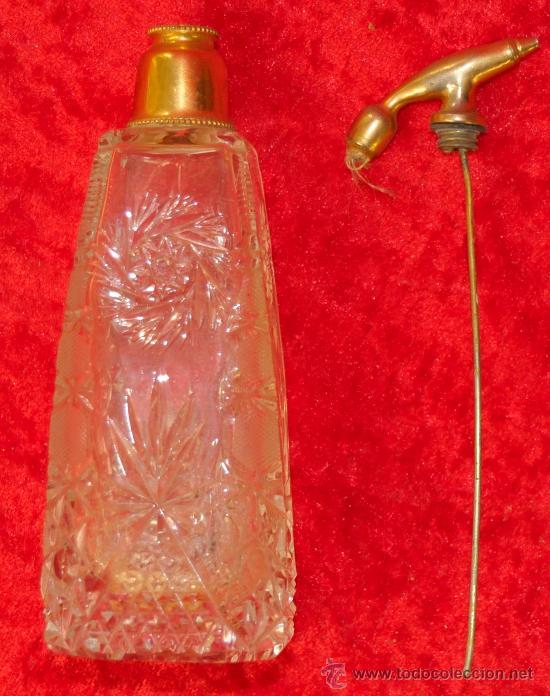 ANTIGUO PERFUMERO DE CRISTAL TALLADO (Antigüedades - Cristal y Vidrio - Otros)