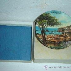 Antigüedades: PLATO DE MADERA PEQUEÑA PINTADO AL OLEO. Lote 22766839